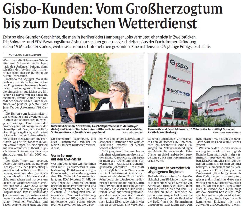 Gisbo Artikel Zweibrücker Zeitung